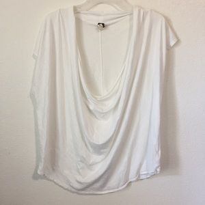 We The Free People Scoop Cowl Neck White Tank Top